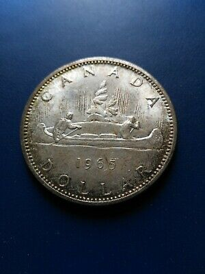 1965 Canadian Silver Dollar ($1), No Reserve!
