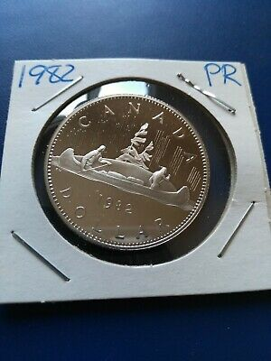 1982 UNC Proof Canadian Nickel Dollar ($1), No Reserve!