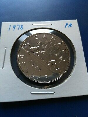 1978 UNC Proof Canadian Nickel Dollar ($1), No Reserve!