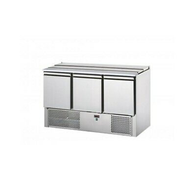 Refrigerated Saladette Td with Lid Stainless Steel - 3 Ports