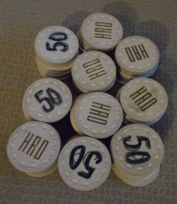 HAD CASINO 5¢ (5 cents) hotel casino gaming poker chips ~ RACK OF 100