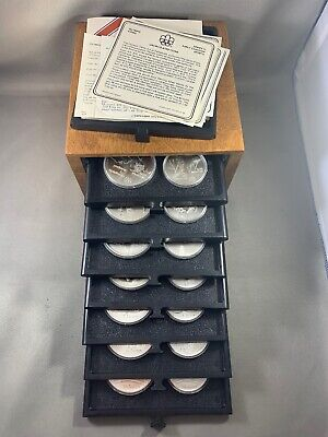 1976 Canada $5 & $10 Silver Olympic 28 Coin Set w/Box - 30.28 Troy Ounces Silver