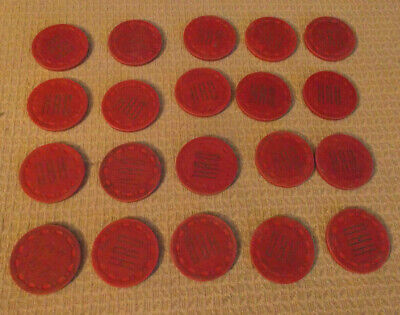 HAD CASINO 10¢ (10 cents) hotel casino gaming poker chips ~ LOT OF 20
