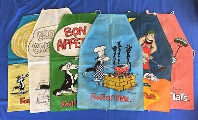 ** RARE ** Footrot Flats Apron Collection [6 different designs] - Murray Ball.