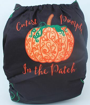 Cutest Pumpkin in the Patch Halloween Fall One Size Cloth Diaper Cover SHIPS USA