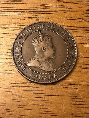 Canadian coin, One cent, Edwardvs VII Dei Gratia Rex Imperator 1906