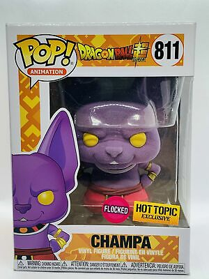Funko Pop Champa Flocked Dragon Ball Z Hot Topic Exclusive +Protector {Pre-Order