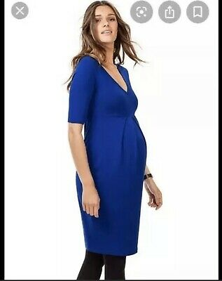 Isabella Oliver Roslyn Royal Blue Dress Sz 3 US 8 Maternity