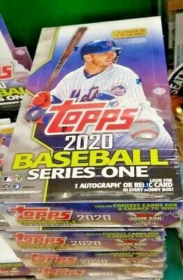 2020 Topps Series 1 Baseball Factory Sealed Hobby Box 1 Silver Pack FREE SHIP