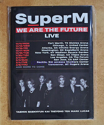 SuperM We Are The Future Live EXHIBITION SMTOWN OFFICIAL GOODS POSTCARD BOOK NEW
