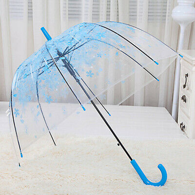 New Transparent contracted Manual open an umbrella Hot Clear Dome-Birdcage