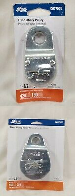"Blue Hawk Zinc Plated Fixed Utility Pulley - Choice 1-1/2"" or 3"""