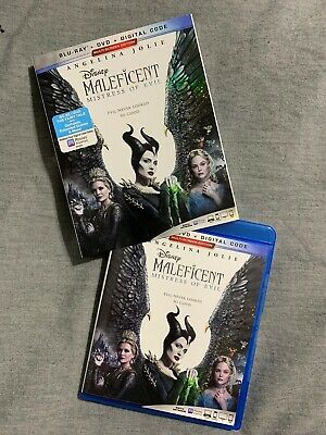 MALEFICENT MISTRESS OF EVIL BLU-RAY + DVD with SLIPCOVER Disney