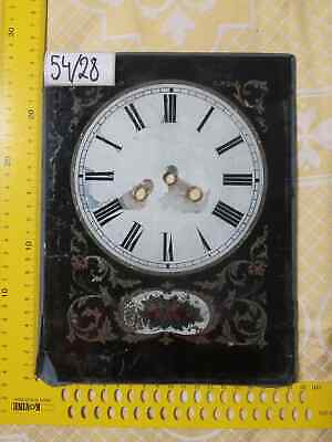 Clock Dial on Glass Antique