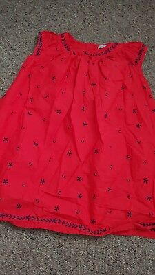 5-6 Years Girl Red Summer Party Dress From Marks And Spencer