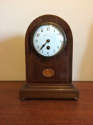 An Antique Mantel Clock By Walker & Hall C. 1900 -French Japy Freres Mechanism