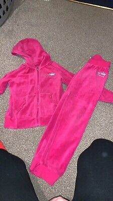 Girls Pink Juicy Couture Tracksuit Age 7