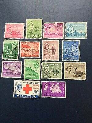 Mauritius . Selection Of 14 QEII Stamps. As Illustrated. Fine Used.