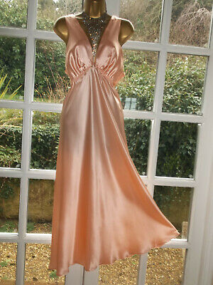 Vtg Style Sulis Luxurious 100% Pure Silk Nightie Nightdress Gown UK16 Tall Girl