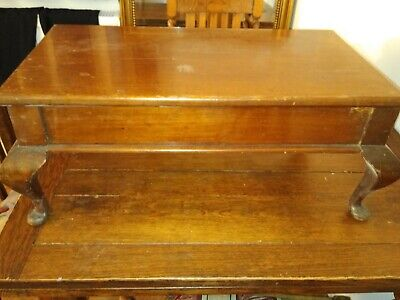 Edwardian Mahogany stool also used as storage box with lift up lid