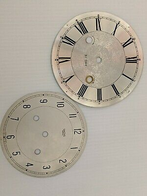 2 x Vintage Clock Faces , Clock Dials One Smiths