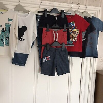 2-3 Yrs Boys Bundle Of Jeans , T Shirts , Shorts . 9 Items, Inc Next.