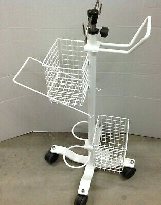 Pryor 632424000-A Rolling Cart Stand with IV Pole Tank Holder and Baskets