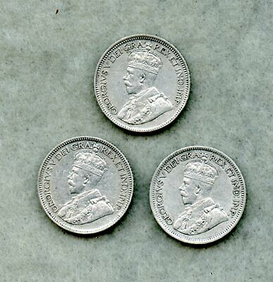 Canada ! (1) 1916 & (2) 1917 ~ Ten Cent Silver Lot ~ Xf ~ 3 Coins