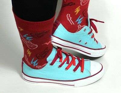 Détails sur Femme Vintage Converse Rouge All Star Chuck Taylor High Top Trainers UK5.538 afficher le titre d'origine