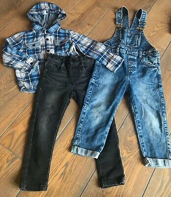 Boys Bundle Jeans Dungarees And Shirt 2-3 Years