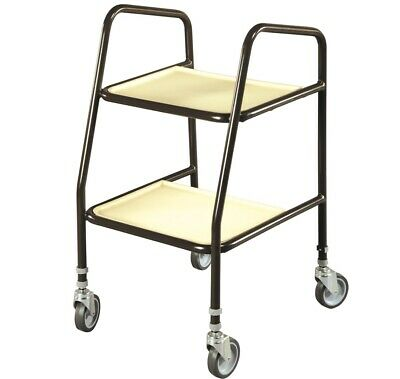 Height Adjustable Mobility Walking Aid Strolley Trolley - Brown & Cream