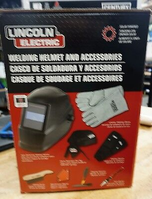 LINCOLN ELECTRIC Welding Helmet Kit,Universal,Plastic, KH977 NEW FREE SHIPPING