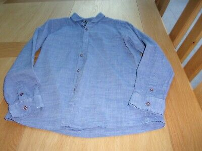 Boys Next denim blue smart shirt age 10