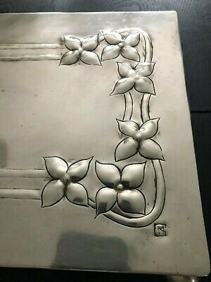 Margaret Gilmour Glasgow School Arts And Crafts Art Nouveau White Metal Trivet