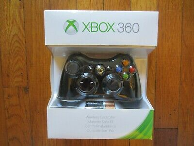 Official Microsoft Xbox 360 Wireless Controller Video Gamepad Black Official NEW