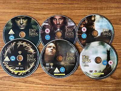 The Lord Of The Rings Trilogy; Fellowship, Towers, Return, DVD Discs Only