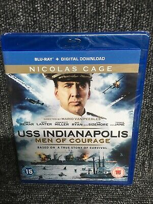 USS Indianapolis: Men of Courage Blu-Ray (2017) Nicolas Cage. New Sealed