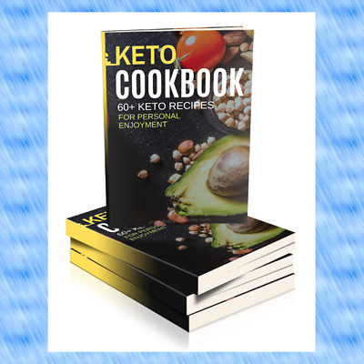 Keto Diet Cookbook+Covers+Sale page+PLR Full Resell Rights + 10 Bonus!