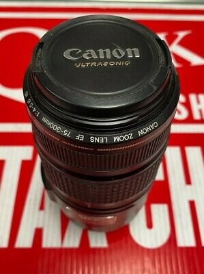 Canon Zoom Lens EF 75-300mm 1:4-5.6 IS - Image Stabilizer Ultrasonic