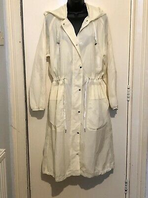 Next Outerwear Cream Shower Resistant Coat Jacket Size 12 BNWT RRP £50