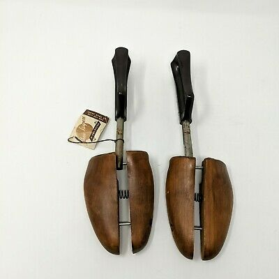 Vtg Shoe Keepers by Rochester Shoe Tree Co. Sz Large Wooden Shoe Stretchers