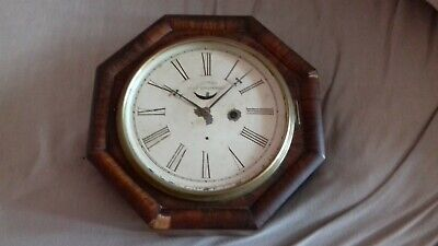 Antique. American.For spares or repair .  Marine lever wall timepiece ,