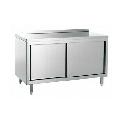 Table Work Cabinet Steel with Tier - Width 200 CM