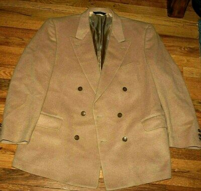 Men's camel wool suit-jacket BURBERRYS' Size lL-XL / chest-23 inch/ made in USA