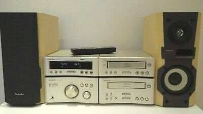 Technics SC-HD510 HiFi Component System Amp CD Tape Tuner speakers + Remote