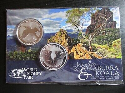 2011 Australia Silver Kookaburra Perth Mint Two-Coin Show Special (Mint Sealed)