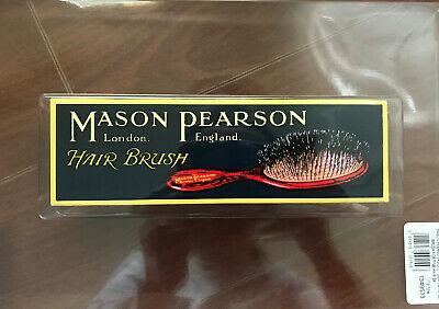 Mason Pearson B4 Pocket 100% Boar Bristle Dark Ruby Fine Hair Brush - NEW