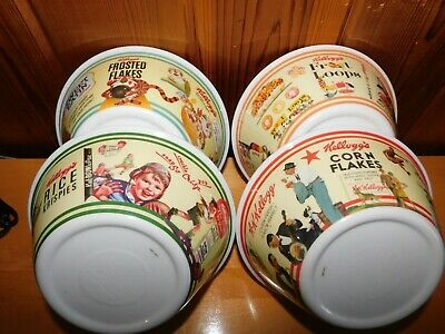 Kellogg's Cereal Bowls 4 Different Hard Plastic