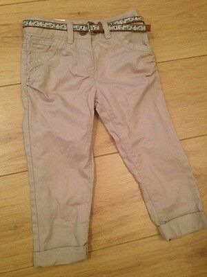 Next Belted Tapered Chinos Age 4 Bnwt