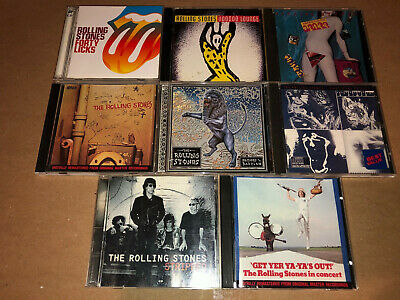 The Rolling Stones 8 CD Lot Mick Jagger Keith Richards Live Concert Forty Licks